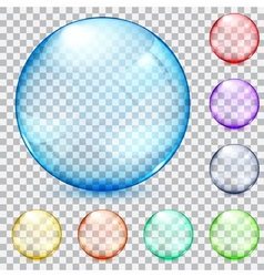 Transparent glass spheres vector image