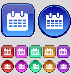 Calendar date or event reminder icon sign a set of vector
