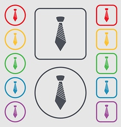Tie sign icon business clothes symbol symbols on vector