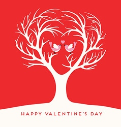 Happy Valentines Day Love birds vector image