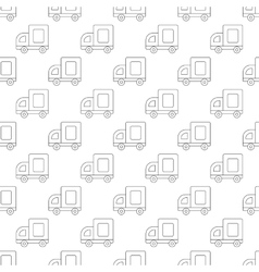 Medium truck pattern seamless vector