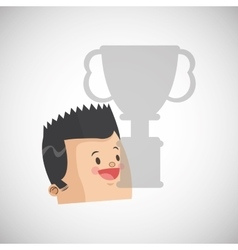 Success design winner icon flat vector