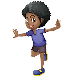 African american boy smiling vector image