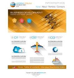 Attractive Modern Web Template with flat UI vector image vector image