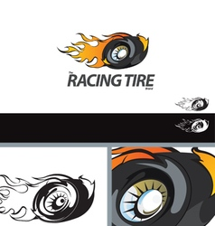 Auto tire swoosh abstract symbol branding design e vector