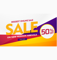 Biggest online sale poster banner template design vector