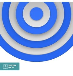 Blue Target on white vector image