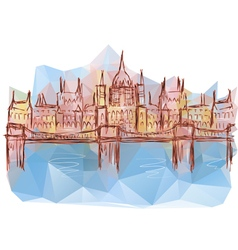 budapest vector image