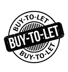 Buy-to-let rubber stamp vector