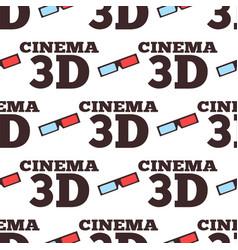 Cinema 3d movie entertainment vector