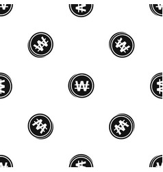 Coins wont pattern seamless black vector