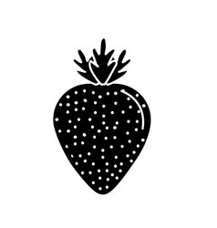 Contour delicious and healthy strawberry fruit vector