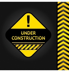 corduroy black background under construction vector image vector image