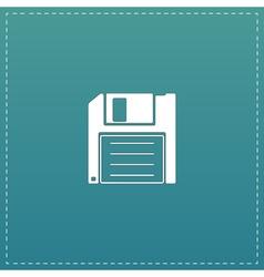 Diskette save icon vector