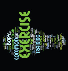 Great tips on exercise text background word cloud vector