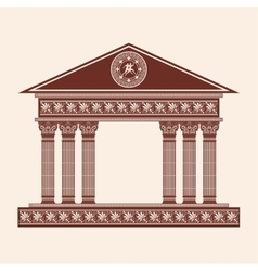 Greek temple vector