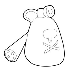 Insecticide device icon outline style vector