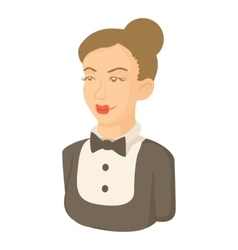 Maid icon cartoon style vector