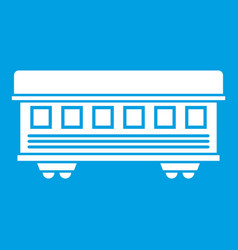 Passenger train car icon white vector
