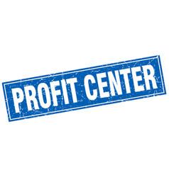 Profit center square stamp vector