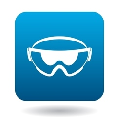 Safety glasses icon in simple style vector