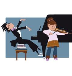 School recital vector image vector image