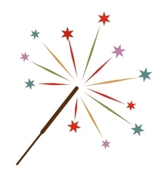 Sparkler flat icon vector image vector image