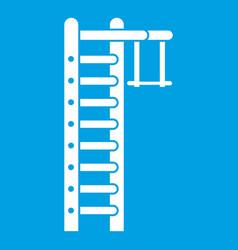 Swedish ladder icon white vector