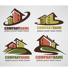 sweet home logo vector image vector image