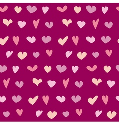 valentine seamless polka dot pattern with hand vector image
