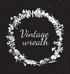 Vintage frames of cute flower vector