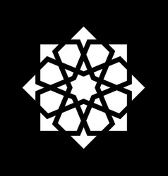 white arabesque ornament vector image vector image
