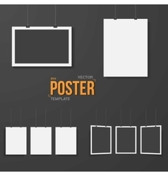 Poster Mockup Set Realistic EPS10 vector image