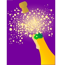 Bubbly new year vector