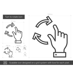 Turn to rotate line icon vector
