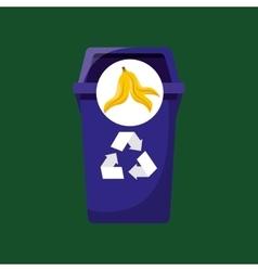 Organic trash prohibited graphic vector