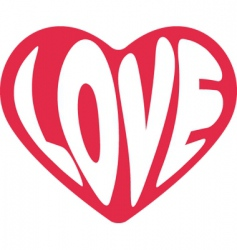 valentine love sign vector image