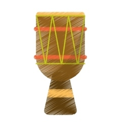 Drawing brasilian drum percussion bongo vector