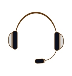 Headphone headset icon image vector