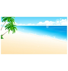 Idyllic Beach Palm Tree vector image