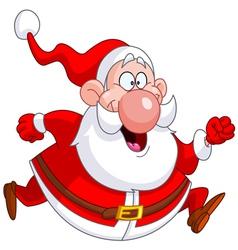 running santa vector image