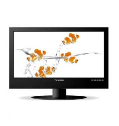 Widescreen monitor vector