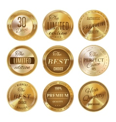 Golden labels set vector