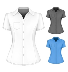 Formal short sleeved blouses for lady vector