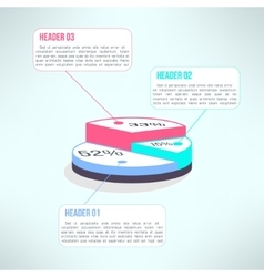 Economic finance graphics pie chart made in vector