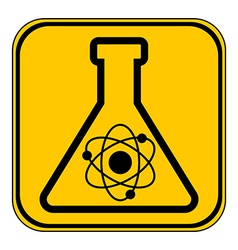 Laboratory glass button vector