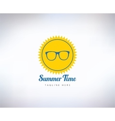 Sun summer and holiday abstract logo vector