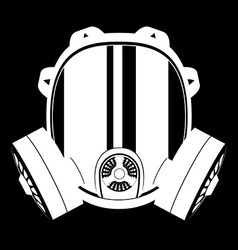 Gas mask black and white 02 vector