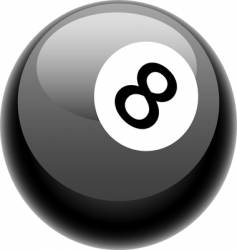 Eight ball illustration vector