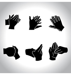 Hands black vector